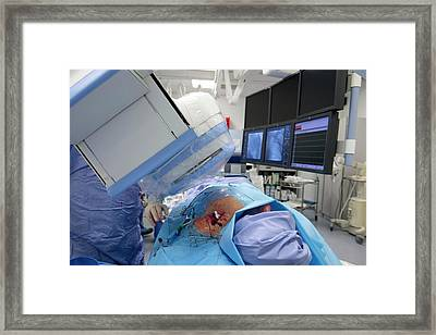 Implantable Defibrillator Surgery Framed Print by Dr P. Marazzi/science Photo Library
