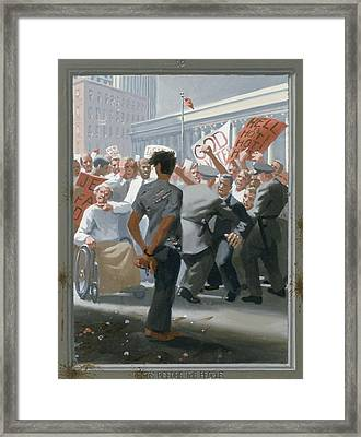 10. Jesus Before The People / From The Passion Of Christ - A Gay Vision Framed Print by Douglas Blanchard