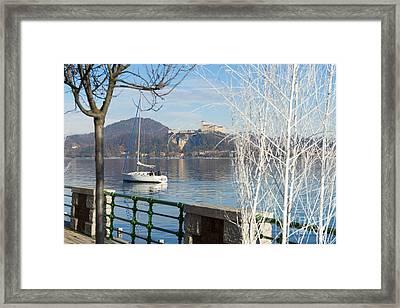 Lakefront Framed Print by Mats Silvan