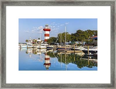 Lighthouse On Hilton Head Island Framed Print by Peter Lakomy