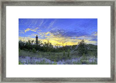 Little Sable Lighthouse Framed Print by Twenty Two North Photography