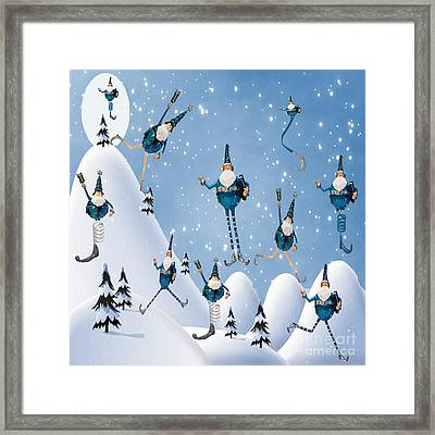 10 Lords A Leaping Framed Print by Juli Scalzi