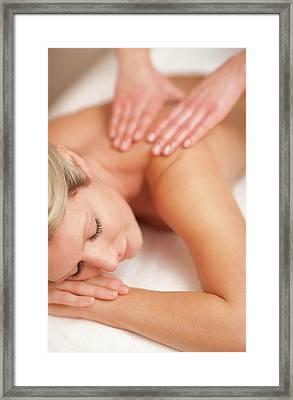 Massage Framed Print by Ian Hooton/science Photo Library