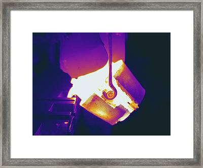 Metal Foundry, Thermogram Framed Print by Science Stock Photography