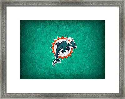 Miami Dolphins Framed Print by Joe Hamilton
