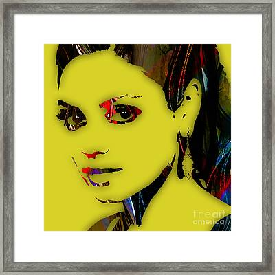Mila Kunis Collection Framed Print by Marvin Blaine