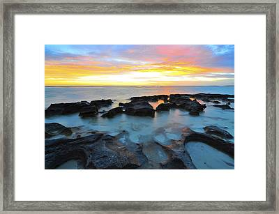 10 Mile Lagoon Framed Print by Sally Nevin