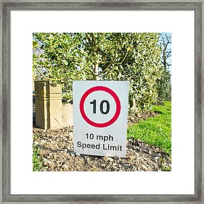10 Miles Per Hour Framed Print by Tom Gowanlock