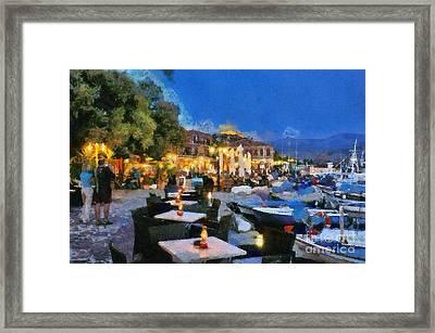 Molyvos Town In Lesvos Island Framed Print by George Atsametakis