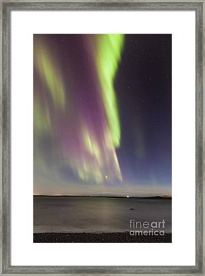 Northern Lights Iceland Framed Print by Gunnar Orn Arnason