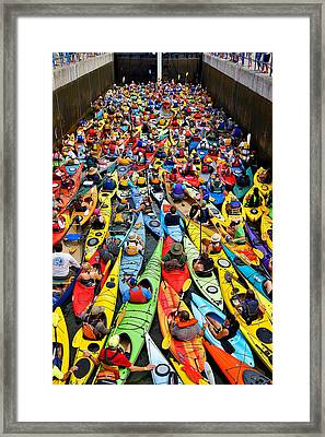 Park To Park Paddle 2013 Framed Print by Carol Toepke