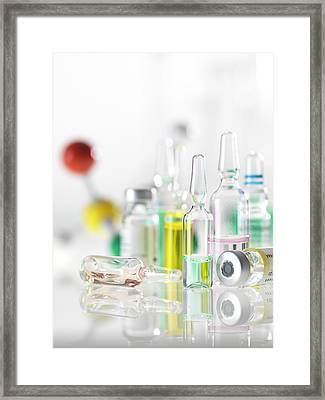 Pharmaceutical Research Framed Print by Tek Image