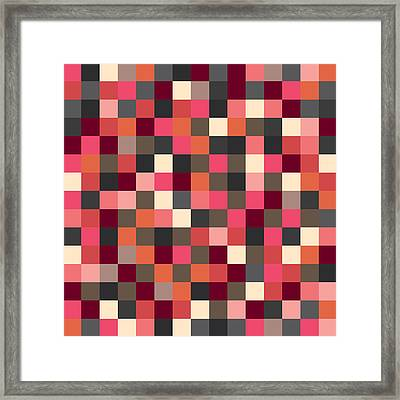 Pixel Art Square Framed Print