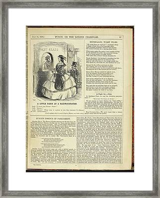 Punch Framed Print by British Library