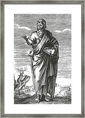 Pythagoras, Greek Mathematician Framed Print by Science Source