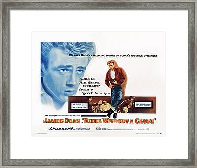 Rebel Without A Cause, James Dean, 1955 Framed Print