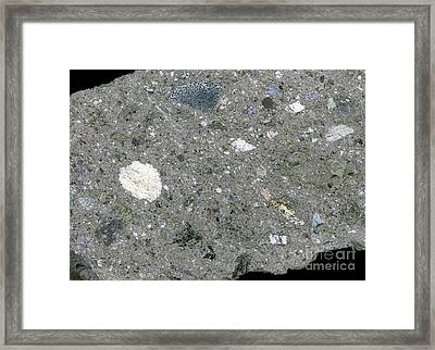 Rock From Meteorite Impact Crater Framed Print