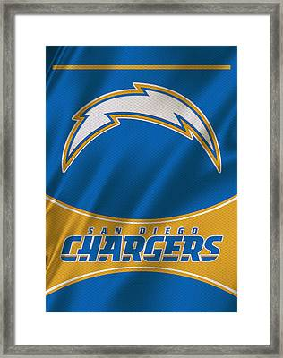 San Diego Chargers Uniform Framed Print