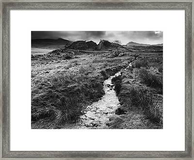 Framed Print featuring the photograph Snowdonia National Park Wales by Richard Wiggins
