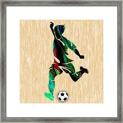 Soccer Framed Print by Marvin Blaine
