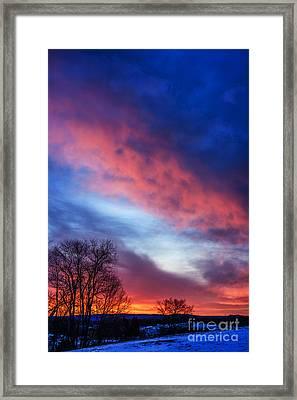 Sunrise Drama Framed Print