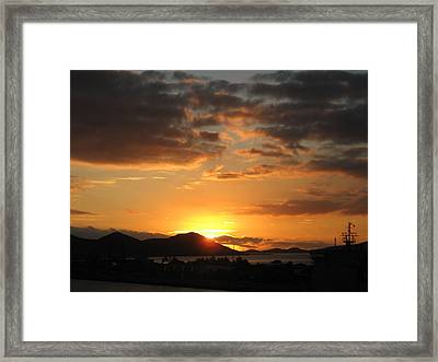 Sunset. Framed Print by Joyce Woodhouse