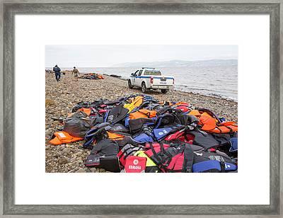 Syrian Refugees Framed Print