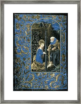The Nativity Framed Print by Granger