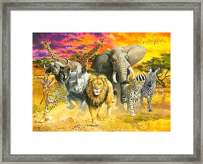 Africa's Finest Framed Print by John Francis