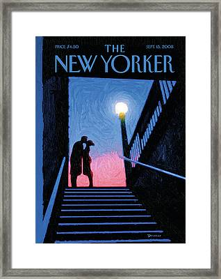 New Yorker Moment Framed Print by Eric Drooker