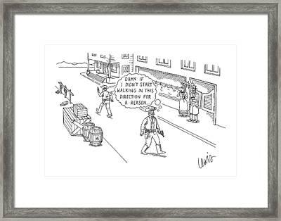 New Yorker August 24th, 2009 Framed Print