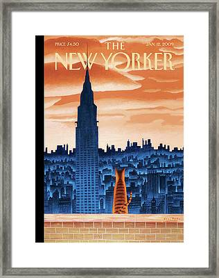 New Yorker January 12th, 2009 Framed Print