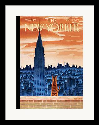 Nyc Rooftop Framed Prints