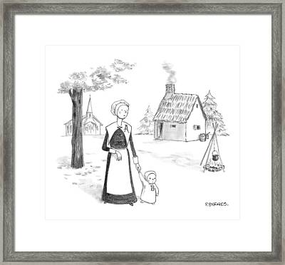 Captionless; Framed Print