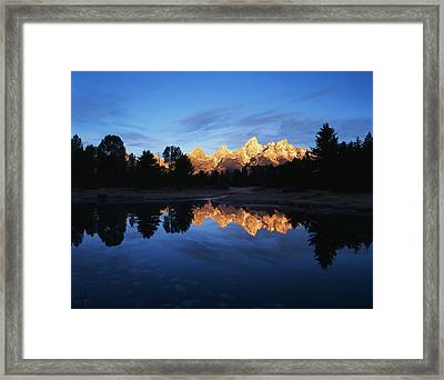 Usa, Wyoming, Grand Teton National Framed Print