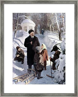 Vladimir Lenin (1870-1924) Framed Print