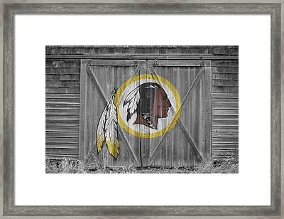 Washington Redskins Framed Print by Joe Hamilton