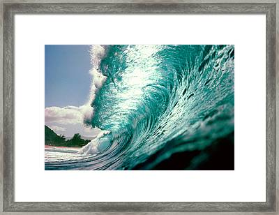 Waves Splashing In The Sea Framed Print by Panoramic Images