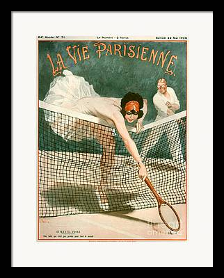 Womens Tennis Framed Prints