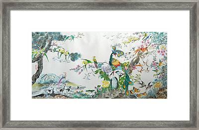 100 Birds Framed Print