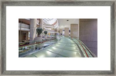 100 In The Renaissance Center In Detroit  Framed Print