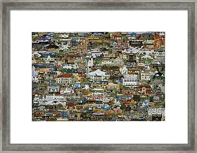 100 Painting Collage Framed Print
