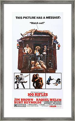 100 Rifles, Us Poster Art, Top Framed Print by Everett