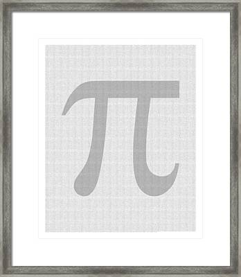 100 Thousand Pieces Of Pi Framed Print by Ron Hedges
