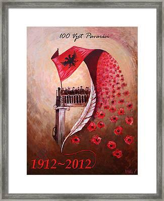 100 Vjetori I Pavaresis Se Shqiperise  Framed Print by Ylli Haruni