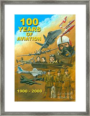 100 Years Of Aviation Framed Print by Michael Swanson