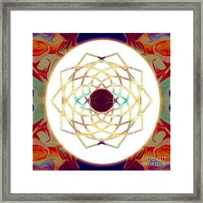 1000 Petalled Lotus Abstract Chakra Art By Omaste Witkowski Framed Print