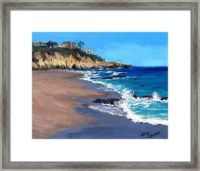 1000 Steps Beach In Laguna Beach California Framed Print by Alice Leggett