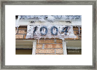 1004 Main Street Small Town Usa - Color Framed Print