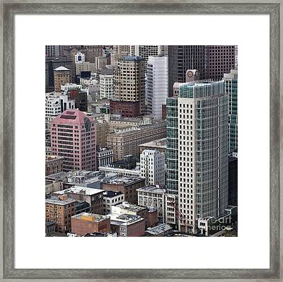 101 2nd Street Tower And The Palace Hotel In San Francisco Framed Print by Adrian Mendoza